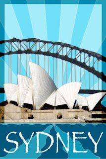 Sydney, Art Deco Travel Poster project