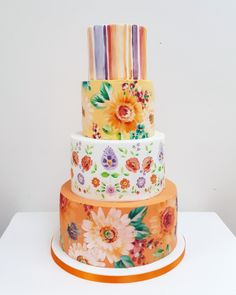You wait for ages for a Mexican themed cake and then two turn up at once! Following in from the birthday cake I made a few weeks ago here is a wedding cake from this weekend. Delivered to the beautiful @davenporthouse  . . . #wedding #weddingcakedesign #paintedcake #edibleart #illustration #paint #painted #weddingflowers #weddingberkhamsted #neviepiecakes #brightwedding #colourfulwedding Mexican Themed Cakes, Mexican Themed Weddings, Themed Wedding Cakes, Painted Cakes, Pie Cake, Wedding Cake Designs, Cake Decorating, Decorating Ideas, Edible Art