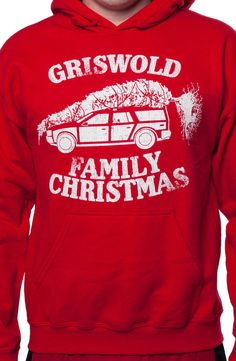 National Lampoon's Christmas Vacation Hoodie: Car with Christmas Tree