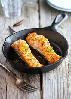 Thai Sweet Chili Glazed Salmon recipe. Glaze sounds absolutely delicious & would use it on other meals too eg salads, tofu...