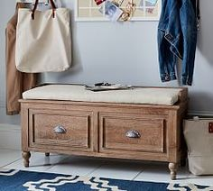Browse Pottery Barn's collection of entryway furniture. Find entryway benches, hall trees, console tables and decor in classic styles and quality finishes. Entryway Furniture, Entryway Decor, Entryway Bench, Apartment Furniture, Entry Foyer, Apartment Ideas, Tufted Storage Bench, Room Planner, Bench Cushions