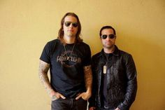 M Shadows and Johnny Christ 2013 #avenged sevenfold