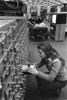 Public Library drawers of Index Cards
