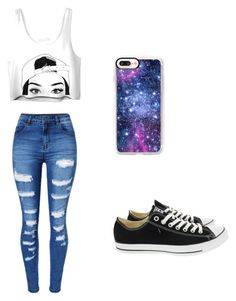 Sem título #20 by biasouza-i on Polyvore featuring moda, WithChic, Converse and Casetify