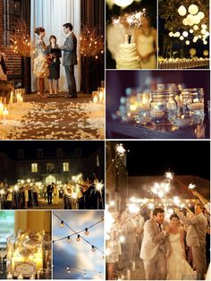 I want a evening wedding with lots of lights!!!