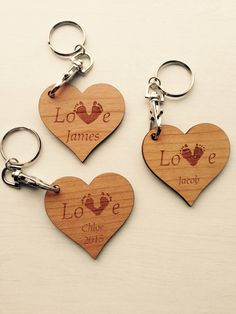 Your child's footprints on a heart shaped keyring £6 any wording https://www.etsy.com/shop/tinytoescraftcreate1