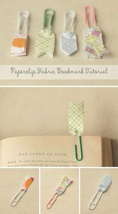 fabric bookmarks, adorable.