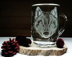Excited to share the latest addition to my #etsy shop: Hand Engraved Wolf, Wolf, Canis Lupus, Large Coffee Mug, Wolf Coffee Mug, Engraved Wolf, Wolf Art, Wolf Glass Art, White Wolf, Wolf Mug #housewares #clear #birthday #easter #yes #glass #handengravedwolf #wolf #canislupus http://etsy.me/2HmTaP9