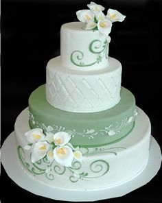 Calla Lilly mint cake at McArthur's Bakery