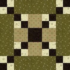 "Modern Quilt Block Designs Free | Five Patch Chain Quilt Block Pattern - 10"""