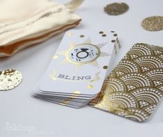 Bridal Shower Games | Cute scratch-off cards for a bridal shower or party game! #GatsbyWedding #GoldWedding #GoldFoil #BridalShowerGame #GoldWeddingAnniversary