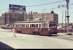 SEPTA  Red  Arrow  Div  Trolley  near 69th  St  Terminal