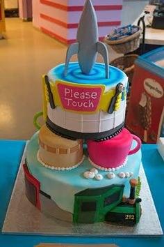 Awesome 7 Best Please Touch Museum 5Th Birthday Party Cake Images Best Personalised Birthday Cards Veneteletsinfo
