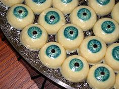 eyeball cookies, bones http://www.britta.com/HW/HWr.html#eyeballs