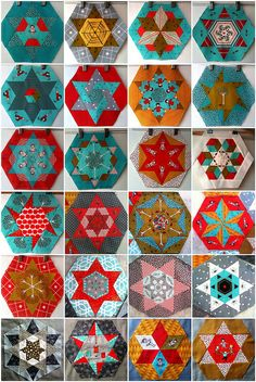 24 Little Apples Hexagons & Stars :: DEC 2011 by Lorena in Sydney, via Flickr