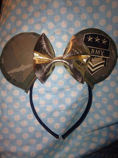Hey, I found this really awesome Etsy listing at https://www.etsy.com/listing/215361664/army-camo-and-zipper-mickey-mouse-ears