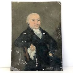 An incredibly old and beautiful French portrait of a gentleman; he has such character that still shines through after all this time, a testament to the skilled artist! Rustic French, Vintage Art, Artist, Portraits, Painting, Character, Beautiful, Artists, Head Shots