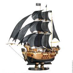 """Купить Корабль с черными парусами """"Зевс"""" - макет корабля, черная жемчужина модель, корабль зевс"""