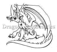 Inktober: Little Dragon Family by DragonsAndBeasties on DeviantArt Colouring Pages, Coloring Books, Baby Dragon Tattoos, Cute Dragon Drawing, Dragon Family, Dragon Coloring Page, Dragon Artwork, Cute Dragons, Little Dragon