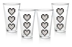 Pin for Later: Gifts For Your Inseparably Coupled-Up Friends Heart Pint Glasses