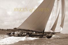 Classe J. Britannia D&W Henderson Yard. © Beken of Cowes Classic Yachts, Sailing Ships, Racing, Sail Boats, Nautical, Yard, Image, Beauty, Candle