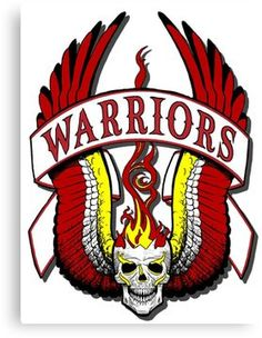 'The Warriors movie logo' Canvas Print by RockabillyAnt Warrior Logo, Warrior Quotes, Old Film Posters, Movie Poster Art, Warrior Movie, Ninja 2, Movie Film, Movies, Head Hunter