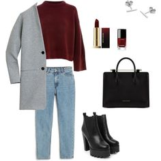 Autumn by juliachekalina on Polyvore featuring мода, Topshop, J.Crew, Monki, Nasty Gal, Strathberry, Myia Bonner, Kevyn Aucoin and Chanel