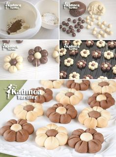 Çiçek Kurabiye Tarifi, Nasıl Yapılır Çiçek Kurabiye Tarifi - galletas - Las recetas más prácticas y fáciles Easy Cookie Recipes, Cookie Desserts, Sweet Recipes, Dessert Recipes, Biscotti Cookies, Yummy Cookies, Cake Cookies, Flower Cookies, Food Decoration