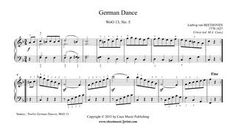 Beethoven : German Dance in F Major, WoO 13, No. 5 www.sheetmusic2print.com/Beethoven/German-Dance-13-5.aspx