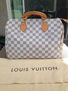 AUTHENTIC Louis Vuitton Damier Azur Speedy 30 ***NO RESERVE***