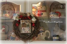 My first stitchy finish of Prairie Schooler Prairie Seasons finished into a wreath . I used burlap to hang it from the wreath. Cross Stitch Finishing, Grapevine Wreath, Grape Vines, Burlap, Chelsea, Wreaths, Seasons, Winter, Decor