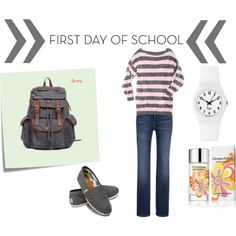 """""""First Day of School Casual"""" by leahkamilos on Polyvore"""