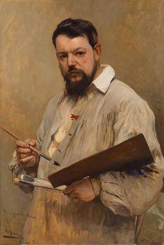 José Jiménez Aranda, Portrait of Joaquín Sorolla y Bastida, 1901 on ArtStack Artist Art, Artist At Work, Figure Painting, Painting & Drawing, Felix Vallotton, Spanish Art, Spanish Painters, Paintings I Love, Renoir