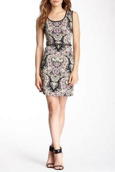 Sleeveless Printed Dress by Papillon