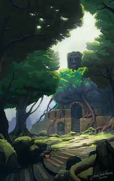 Old temple story, Jean Carlos Velázquez on ArtStation at https://www.artstation.com/artwork/Jnb3a
