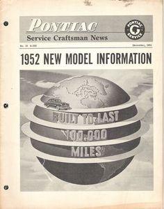 Pontiac Service Craftsman News: December 1951