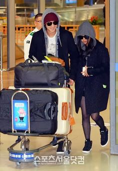 Moon Geun Young and Kim Bum return to Korea from their vacation - Latest K-pop News - K-pop News | Daily K Pop News
