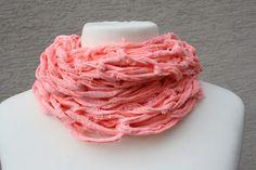 Schals - Loop Schlauchschal rosa used optik Tuch  - ein Designerstück von trixies-zauberhafte-Welten bei DaWanda