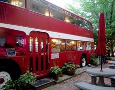 ASHEVILLE, NORTH CAROLINA ~ Unique coffee shop in an old Double Decker Cafe. Love this little place.