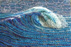 My Wave  by Inge Gardner  W O W  All made with glass mosaic.