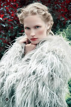Katrin Thormann in Ralph Lauren for Harpers Bazaar UK September 2014 by Erik Madigan Heck