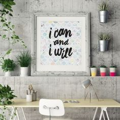 Business Print - I Can and I Will Entrepreneur Inspiration, Business Inspiration, Give Me My Money, Get Off Work, Daily Motivational Quotes, Tough Day, Wedding Quotes, Tony Robbins, Learn To Read