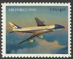 Air Force One - the president's Boeing 747 jetliner Islands In The Pacific, Going Postal, Boeing 747, Vintage Stamps, Number Two, Air Force Ones, Stamp Collecting, North America, Aviation