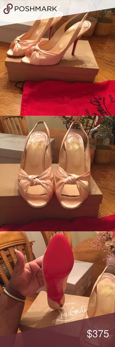19d72ee13517 Blush Satin Christian Louboutins I purchased these beauties