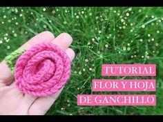 Cómo hacer una flor de ganchillo fácil con una hoja | How to crochet a ...