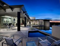 Stunning ultra-modern single family property designed by Urban Design Associates located in Desert Mountain, Arizona.