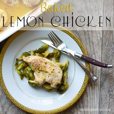 Baked Lemon Chicken Recipe -made this...of course, cut the recipe in half. It was good, Ron even complimented it.