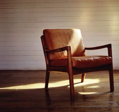 Leather armchair - or more mid century?