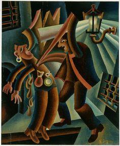 Fortunato Depero - O la borsa o la vita, 1944