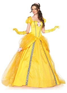 Disney Princesses Enchanting Belle Deluxe Adult Costume from Buycostumes.com
